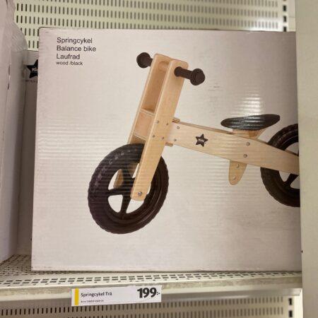 sparkcykel i trä