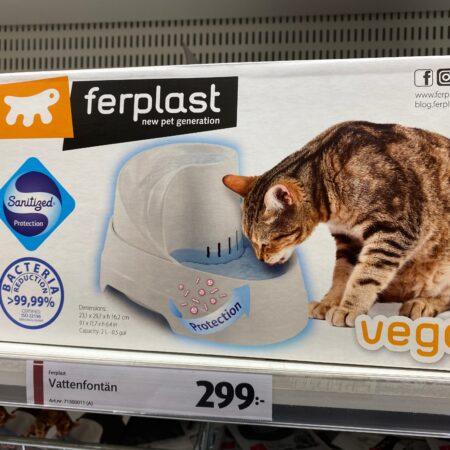 Vattenfontän till katt
